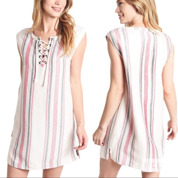 87df56689f8 Cupcakes   Cashmere Reed Shift Linen Dress Size XS